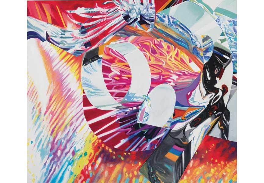 James Rosenquist, Blazer – Speed of Light, 1999, Oil on canvas, 62 x 71 in-Courtesy of IKON Ltd