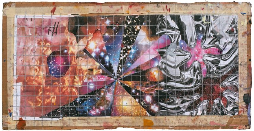 Collage for The Geometry of Fire, 2011