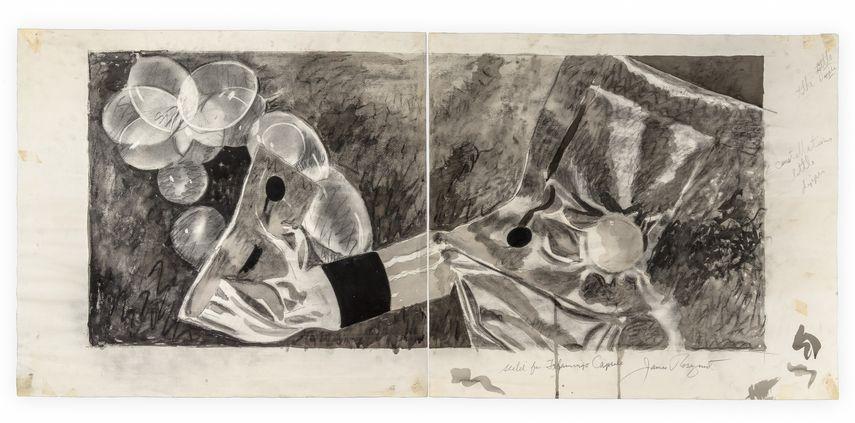 James Rosenquist - Sketch for Flamingo Capsule, 1973