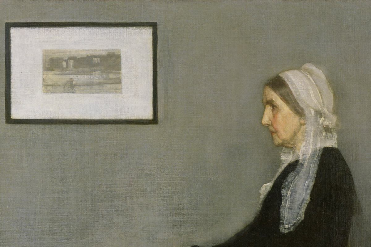 James Whistler - Arrangement in Grey and Black No.1, detail