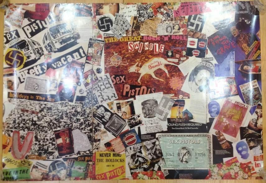 Jamie Reid - Sex Pistols Save Mural - Image via eddielockcouk