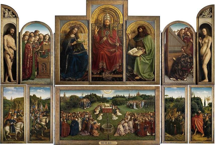 Balance in art of Jan van Eyck