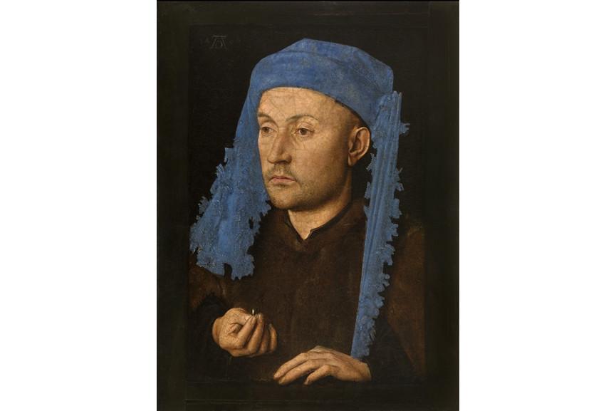 Jan van Eyck - Portrait of a Man with a Blue Chaperon