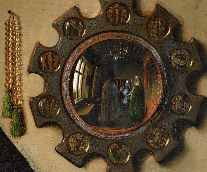 Jan van Eyck - The Arnolfini Portrait detail