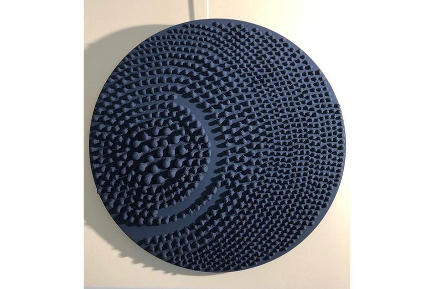 Jane Puylagarde - Round Blue
