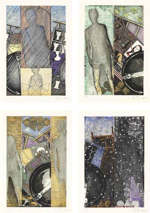 Jasper Johns-The Seasons, Ulae 238-41 (i) Spring; (ii) Summer; (iii) Fall; (iv) Winter)-1987