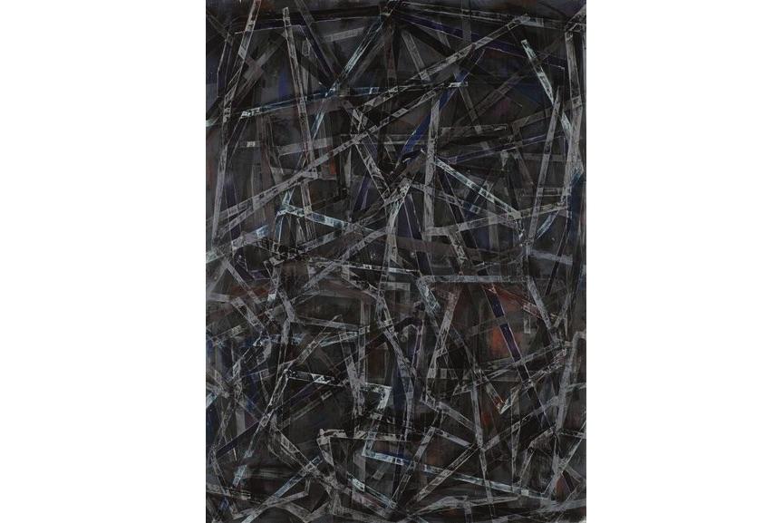Jasmine Wallace - Grinder Painting 10 (Black), 2017
