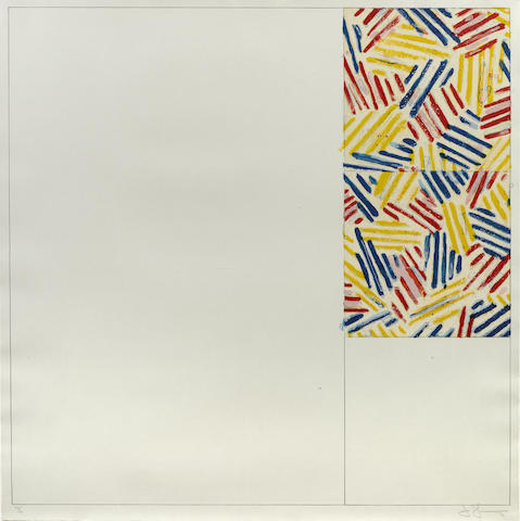 Jasper Johns-#5 from 6 Lithographs (After 'Untitled 1975')-1976