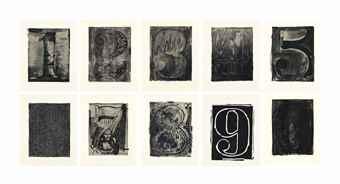 Jasper Johns-Black Numeral Series-1968