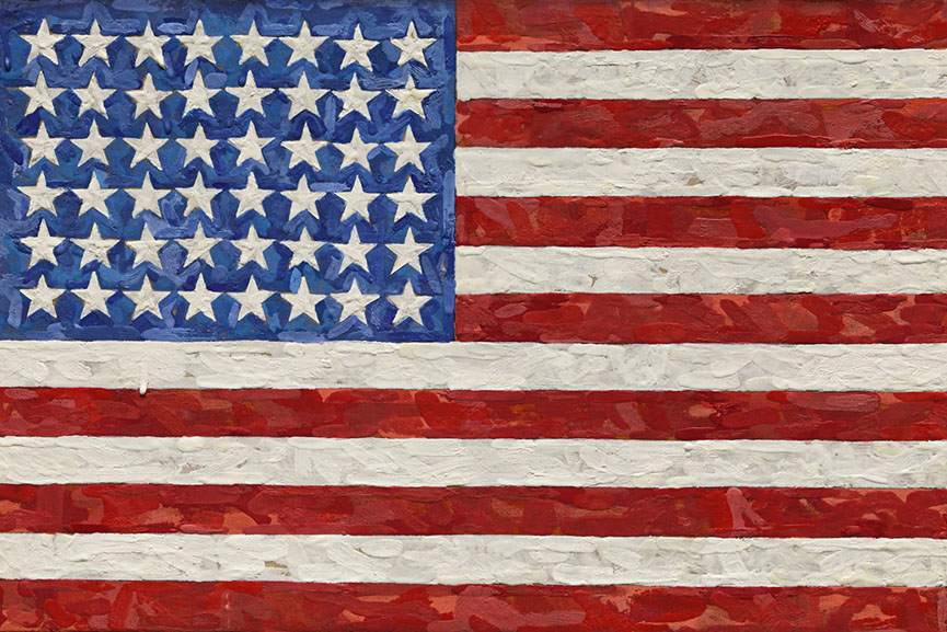 jasper johns abstract artwork born