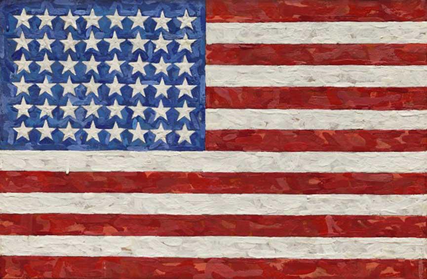 Jasper Johns, Flag, 1983. (Courtesy Sotheby's)