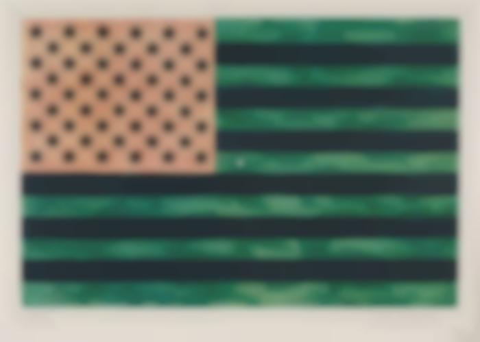 Jasper Johns-Flag (Moratorium)-1969