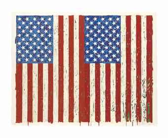 Jasper Johns-Flags I-1973