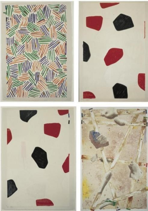 Jasper Johns-Four Panels from Untitled-1972