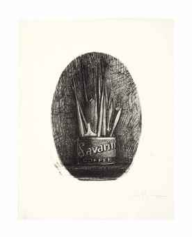 Jasper Johns-Savarin 4 (Oval)-1978