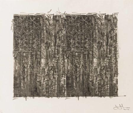 Jasper Johns-Two Flags (Ulae 121)-1972
