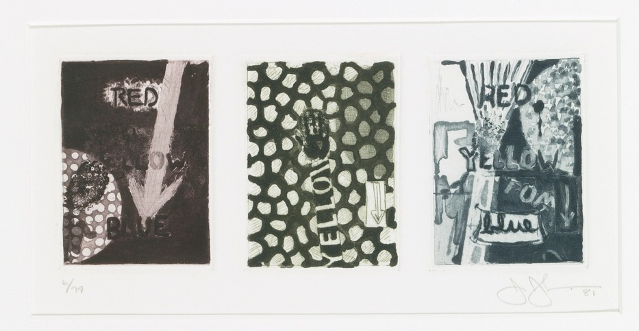Jasper Johns-Untitled (Ulae 217)-1981