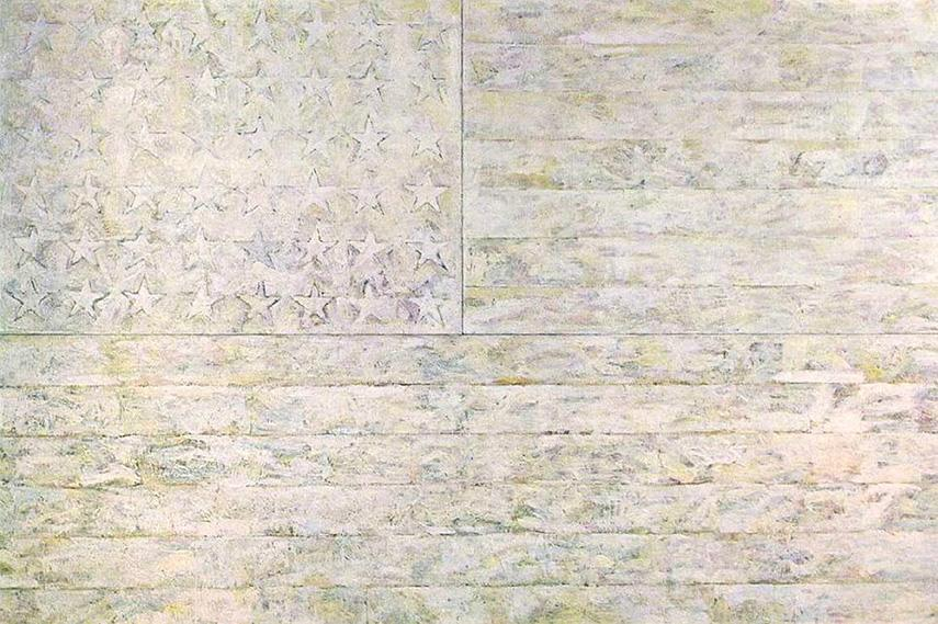 Jasper Johns - White Flag, 1955 neo dada york