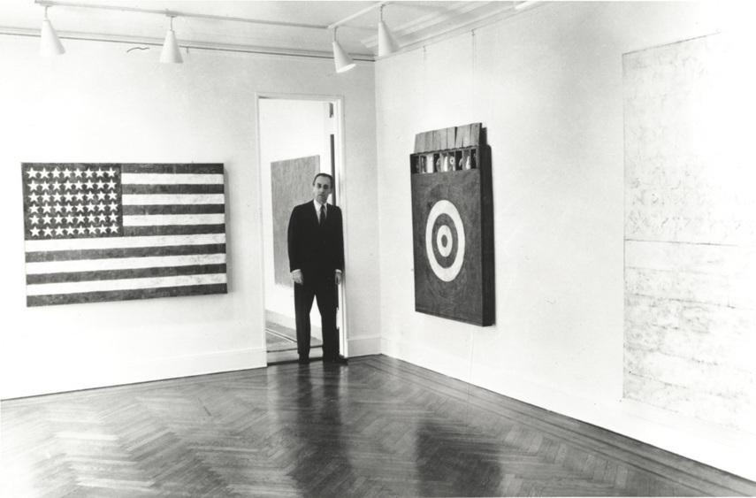 Jasper Johns at Leo Castelli Gallery