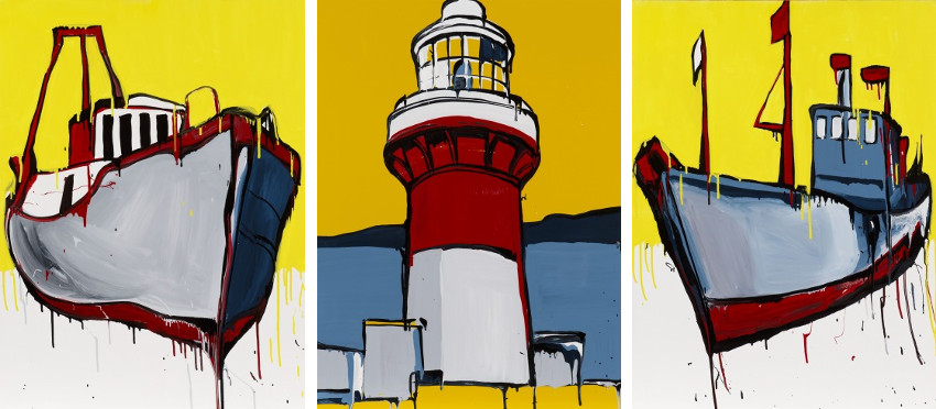 Jasper Knight - West Lamma Channel - Waglan Island Lighthouse - Big Bang Theory, images via The Cat Street, Australian exhibitions in 2010 and 2011, contact is within terms