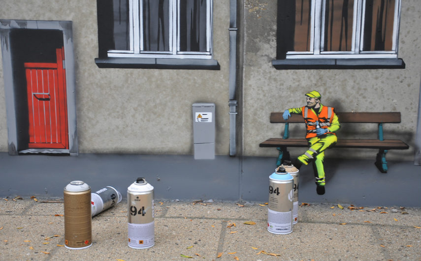 Jaune - Everyday street life (detail), 2014, photo via fankyforza.com