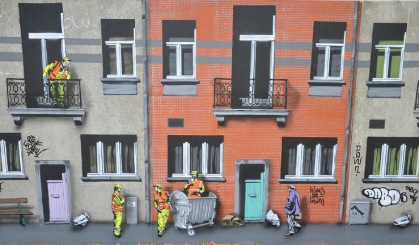 Jaune - Everyday street life (detail2), 2014, photo via fankyforza.com