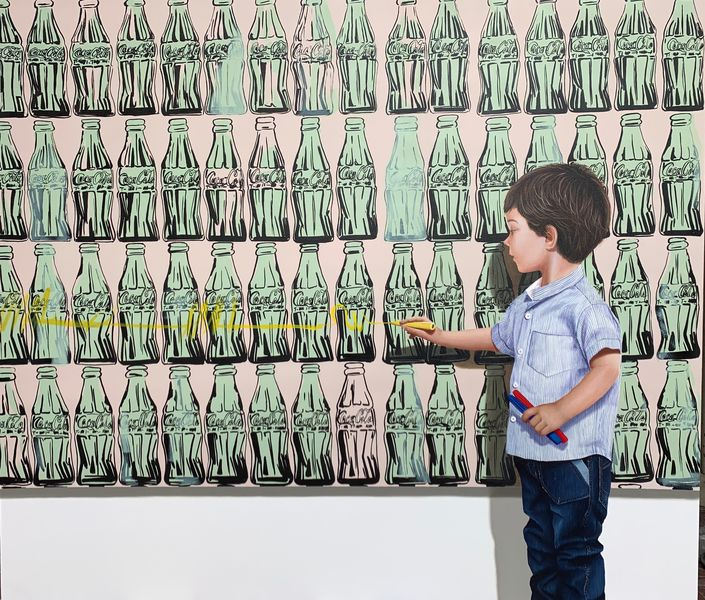 Javier Caraballo - L'art est une affaire d'enfants, 2019 © Adrián Ibáñez Galería