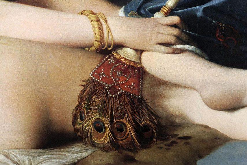 Jean Auguste Dominique Ingres - La Grande Odalisque detail