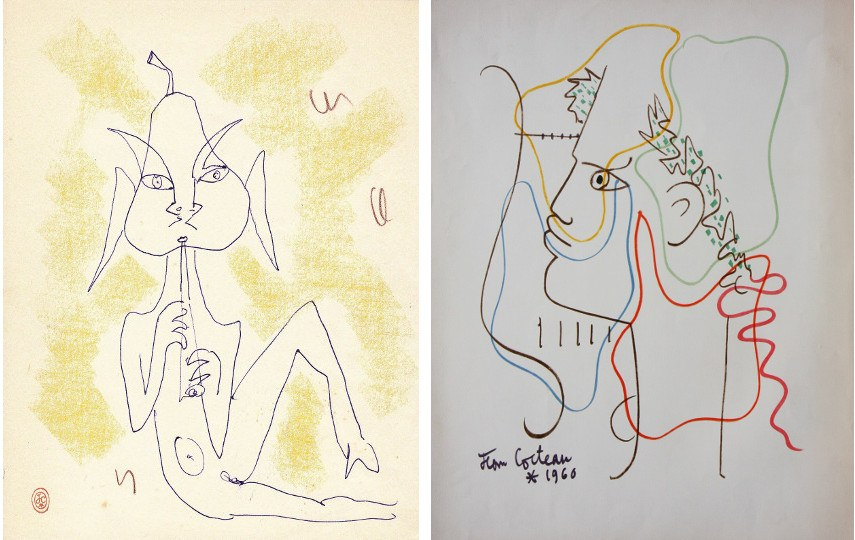 Deliberately simple, the work of Jean Cocteau always aimed to develop aspects other than the visual one