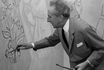 Jean Cocteau - Photo of the artist - Image via pinterest