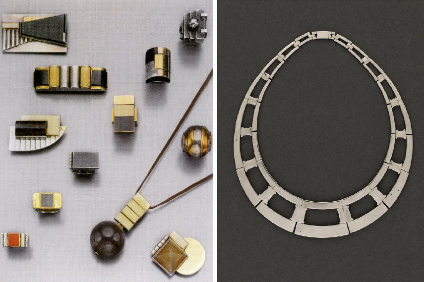Art Deco artists like Jean Després created great lines of jewelry