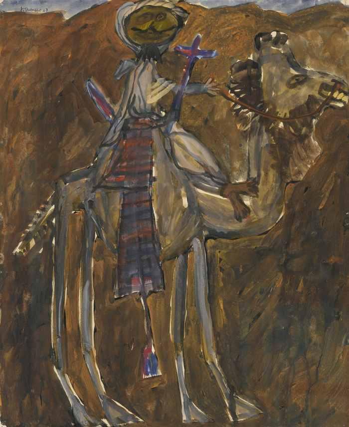 Jean Dubuffet-Bedouin Et Chameau-1948