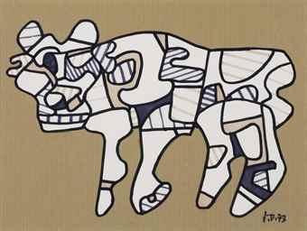 Jean Dubuffet-Chien (profil a gauche)-1973