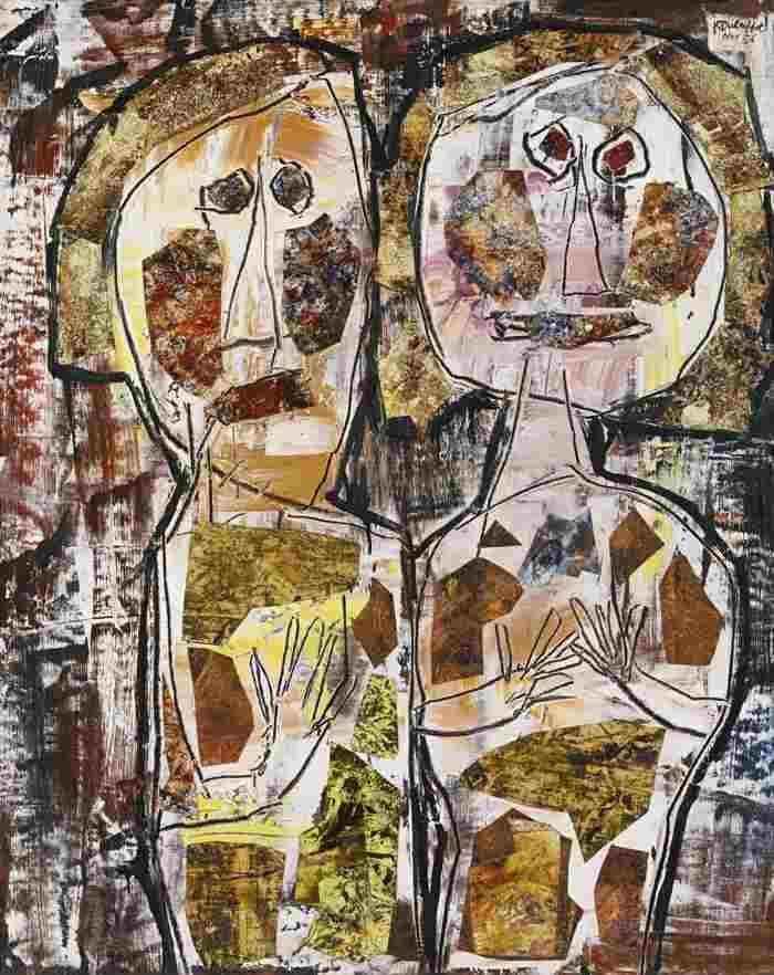 法國藝術家,尚・杜布菲(Jean Dubuffet)作品《Compagnonnage》, 1956。(取自Widewalls官網)