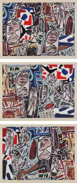 Jean Dubuffet-Faits memorables I-III (Memorable Events I-III)-1978