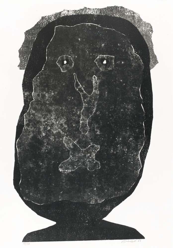Jean Dubuffet-L'Enfle-Chique IV-1963