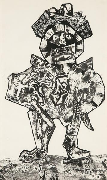 Jean Dubuffet-Le Reitre-1955