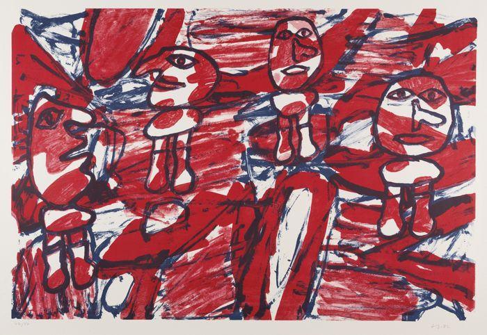 Jean Dubuffet-Les Passants-1962