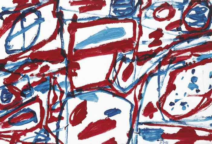 Jean Dubuffet-Mire G 34 (Bolero)-1983