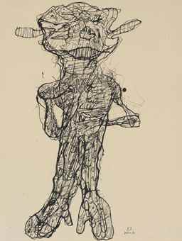 Jean Dubuffet-Personnage-1960