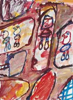 Jean Dubuffet-Site avec 4 personnages-1981