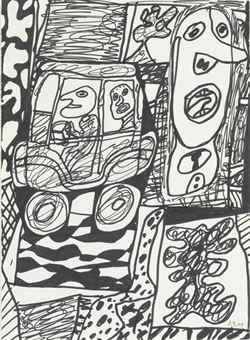 Jean Dubuffet-Situation LXXIX (a l'auto)-1979