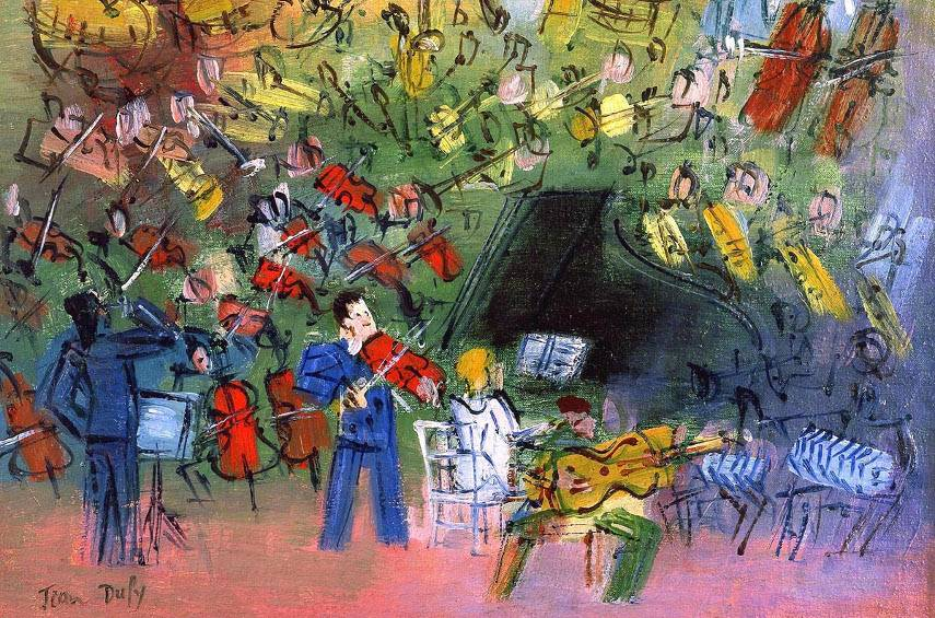 Jean Dufy - The Cabaret (detail), 1937-39 - Photo Credits Artalog - - When you contact the place of the gallery, make sure that the auction price is the same for this as for the sale of the first image - for the terms of privacy!