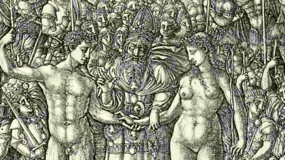 Jean Duvet - The marriage of Adam and Eve, 1528-1530 (Detail) - Albertina Graphic Arts Collection