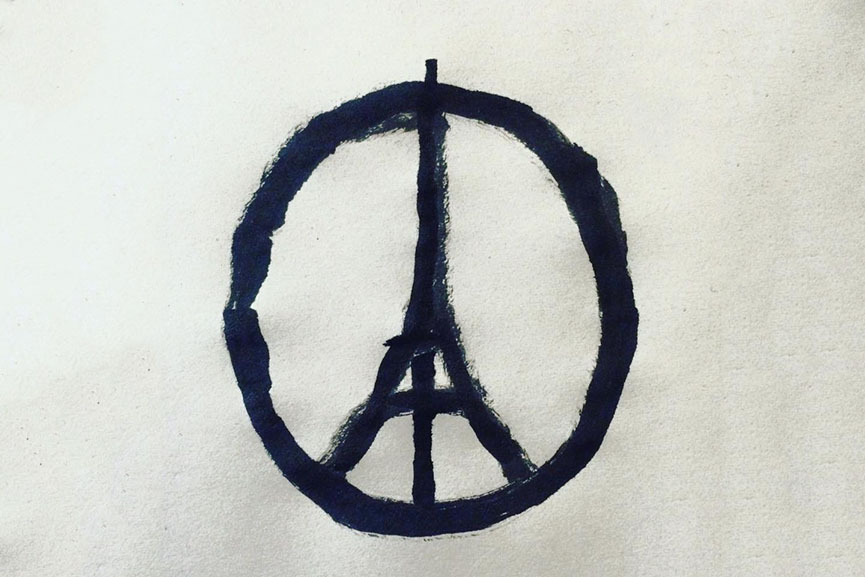 Jean Jullien Pray for Paris 2015 like video work shared just