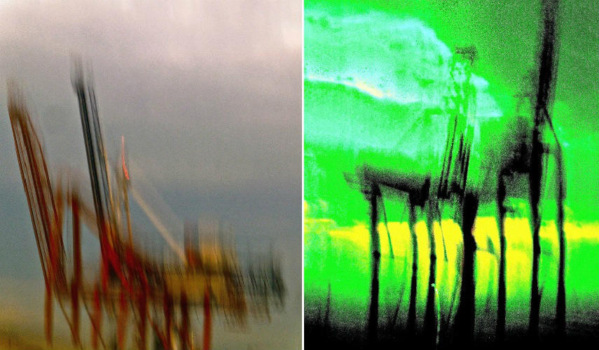 Jean Lebreton - Cranes #2, 2014 (left) - Cranes, 2014 (right)
