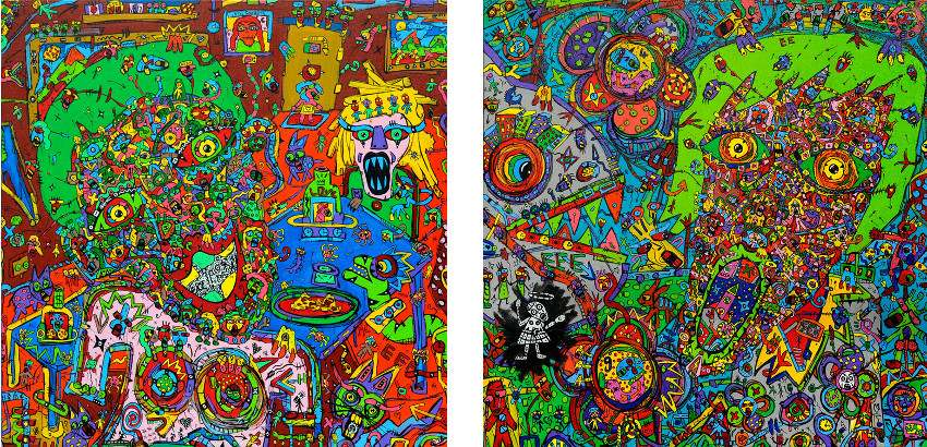 Jean-Marc Calvet - Histoires de Famille - 2014 (Left) / King of Pain - 2014 (Right)