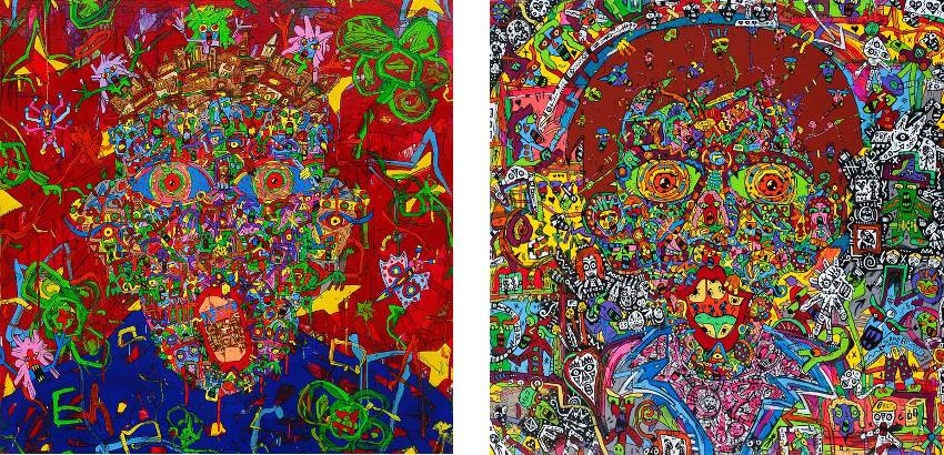 Jean-Marc Calvet - Just an Illusion (Left) / Trick or Treat (Right)