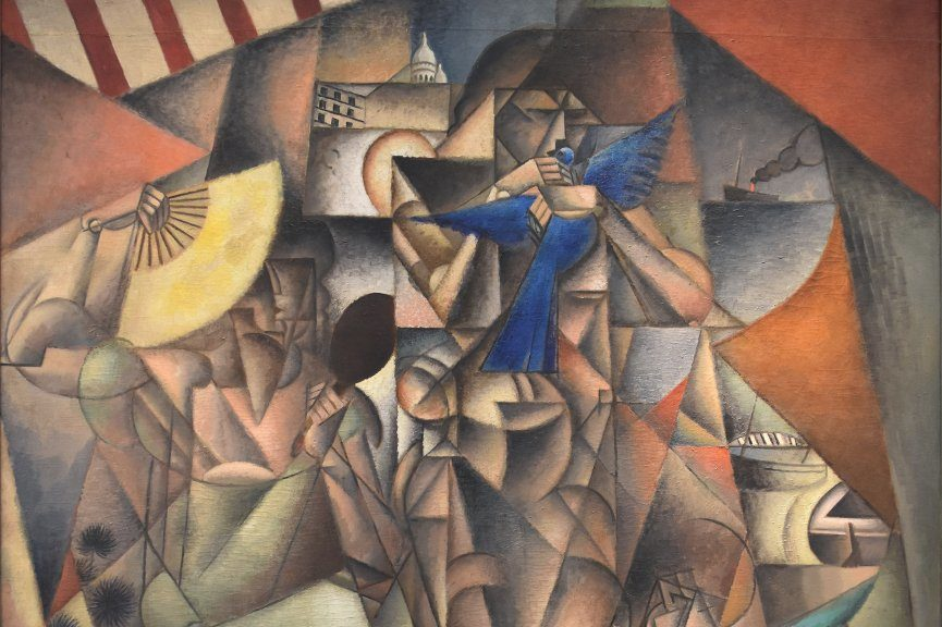 Jean Metzinger - L'Oiseau bleu, 1913 (detail) - Image via wikimediaorg
