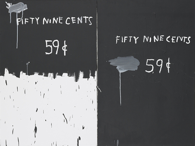 Jean-Michel Basquiat-59 Cents (2 for a Dollar)-1983